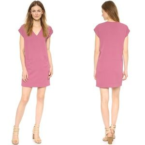 Vince Rolled Sleeve shift dress pockets xsmall